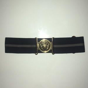 Vintage Gucci Gold Hardware Elastic Waist Belt